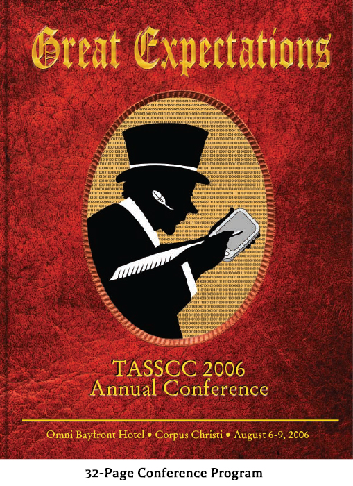 Sample pages from the event program for Great Expectations - A Texas Association of State Systems for Computing and Communications (TASSCC) Conference