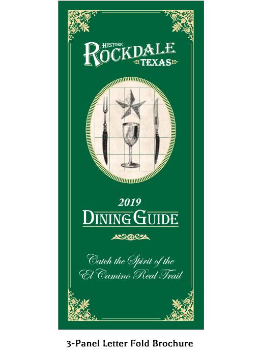 Rockdale Texas Dining Guide Brochure