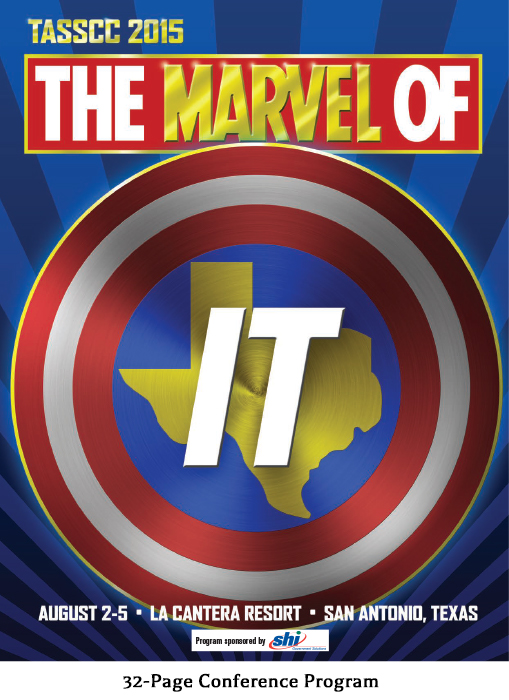 Sample pages from the event program for The Marvel of IT - A Texas Association of State Systems for Computing and Communications (TASSCC) Conference