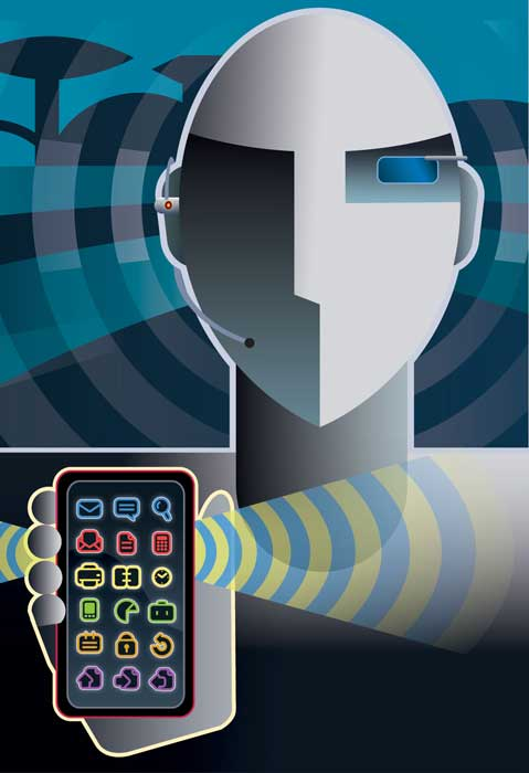 Spot Illustration for Today's Wireless Word Magazine © 2007 Randy Mott
