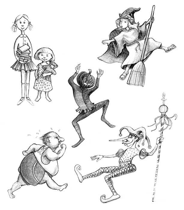 Spot Pencil Drawings © 2003 Randy Mott